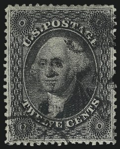 Sale Number 1032, Lot Number 3094, 5c-90c 1857-60 Issue (Scott 27-39)12c Black, Plate 3 (36b), 12c Black, Plate 3 (36b)