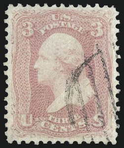 Sale Number 1032, Lot Number 3107, 1861-66 Issue (Scott 62B-67b)3c Pink (64), 3c Pink (64)