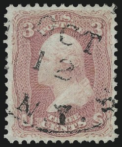 Sale Number 1032, Lot Number 3108, 1861-66 Issue (Scott 62B-67b)3c Pigeon Blood Pink (64a), 3c Pigeon Blood Pink (64a)