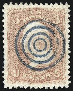 Sale Number 1032, Lot Number 3110, 1861-66 Issue (Scott 62B-67b)3c Rose (65), 3c Rose (65)