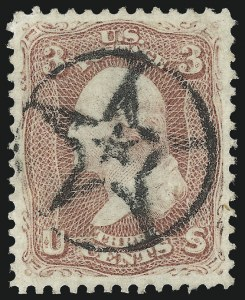 Sale Number 1032, Lot Number 3113, 1861-66 Issue (Scott 62B-67b)3c Rose (65), 3c Rose (65)