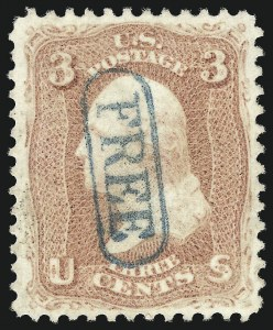 Sale Number 1032, Lot Number 3116, 1861-66 Issue (Scott 62B-67b)3c Rose (65), 3c Rose (65)