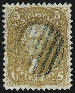 Sale Number 1032, Lot Number 3117, 1861-66 Issue (Scott 62B-67b)5c Buff (67), 5c Buff (67)