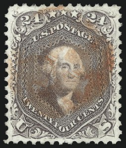 Sale Number 1032, Lot Number 3125, 1861-66 Issue (Scott 68-78b)24c Red Lilac (70), 24c Red Lilac (70)