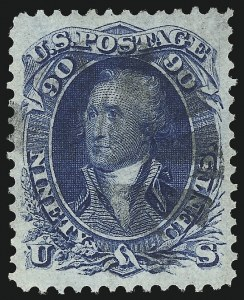 Sale Number 1032, Lot Number 3132, 1861-66 Issue (Scott 68-78b)90c Blue (72), 90c Blue (72)