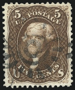 Sale Number 1032, Lot Number 3135, 1861-66 Issue (Scott 68-78b)5c Red Brown (75), 5c Red Brown (75)