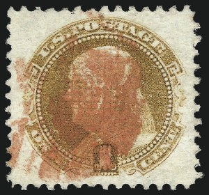 Sale Number 1032, Lot Number 3180, 1c-90c 1869 Pictorial Issue (Scott 112-122)1c Buff (112), 1c Buff (112)