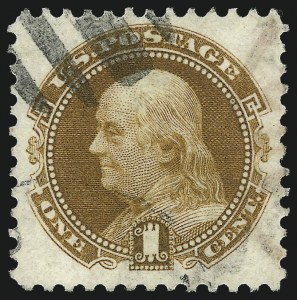 Sale Number 1032, Lot Number 3202, 1875 Re-Issue of 1869 Pictorial Issue (Scott 123-133)1c Buff, Re-Issue (123), 1c Buff, Re-Issue (123)
