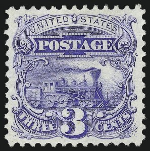 Sale Number 1032, Lot Number 3204, 1875 Re-Issue of 1869 Pictorial Issue (Scott 123-133)3c Blue, Re-Issue (125), 3c Blue, Re-Issue (125)