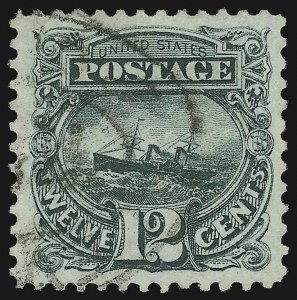 Sale Number 1032, Lot Number 3207, 1875 Re-Issue of 1869 Pictorial Issue (Scott 123-133)12c Green, Re-Issue (128), 12c Green, Re-Issue (128)