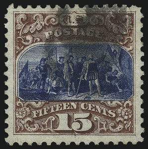Sale Number 1032, Lot Number 3208, 1875 Re-Issue of 1869 Pictorial Issue (Scott 123-133)15c Brown & Blue, Re-Issue (129), 15c Brown & Blue, Re-Issue (129)