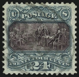 Sale Number 1032, Lot Number 3209, 1875 Re-Issue of 1869 Pictorial Issue (Scott 123-133)24c Green & Violet, Re-Issue (130), 24c Green & Violet, Re-Issue (130)