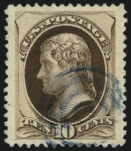 Sale Number 1032, Lot Number 3291, 1979-88 American Bank Note Co. Issues (Scott 182-191)10c Brown, With Secret Mark (188), 10c Brown, With Secret Mark (188)