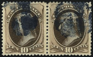 Sale Number 1032, Lot Number 3293, 1979-88 American Bank Note Co. Issues (Scott 182-191)10c Brown, With and Without Secret Mark (187-188), 10c Brown, With and Without Secret Mark (187-188)