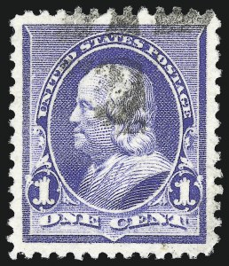 Sale Number 1032, Lot Number 3321, 1890-93 Issue (Scott 219-229)1c Dull Blue (219), 1c Dull Blue (219)