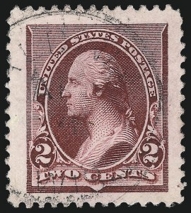 Sale Number 1032, Lot Number 3322, 1890-93 Issue (Scott 219-229)2c Lake (219D), 2c Lake (219D)