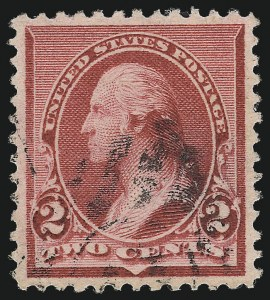 "Sale Number 1032, Lot Number 3325, 1890-93 Issue (Scott 219-229)2c Carmine, Cap on Both ""2""'s (220c), 2c Carmine, Cap on Both ""2""'s (220c)"