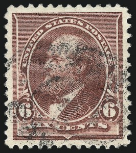 Sale Number 1032, Lot Number 3329, 1890-93 Issue (Scott 219-229)6c Brown Red (224), 6c Brown Red (224)