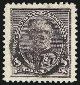 Sale Number 1032, Lot Number 3331, 1890-93 Issue (Scott 219-229)8c Lilac (225), 8c Lilac (225)