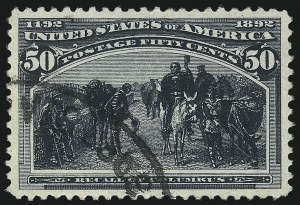 Sale Number 1032, Lot Number 3350, 1893 Columbian Issue (Scott 230-245)50c Columbian (240), 50c Columbian (240)