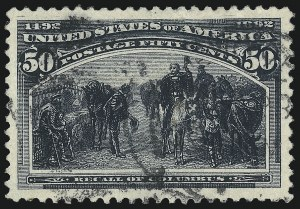 Sale Number 1032, Lot Number 3351, 1893 Columbian Issue (Scott 230-245)50c Columbian (240), 50c Columbian (240)