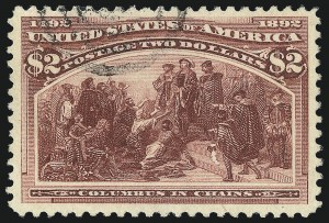 Sale Number 1032, Lot Number 3355, 1893 Columbian Issue (Scott 230-245)$2.00 Columbian (242), $2.00 Columbian (242)
