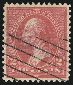 Sale Number 1032, Lot Number 3383, 1894-98 Bureau Issues, Watermarked and Color Change (Scott 264-284)2c Pink, Ty. III (267a), 2c Pink, Ty. III (267a)