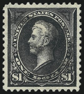 Sale Number 1032, Lot Number 3394, 1894-98 Bureau Issues, Watermarked and Color Change (Scott 264-284)$1.00 Black, Ty. I (276), $1.00 Black, Ty. I (276)
