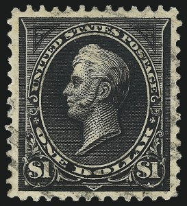 Sale Number 1032, Lot Number 3395, 1894-98 Bureau Issues, Watermarked and Color Change (Scott 264-284)$1.00 Black, Ty. II (276A), $1.00 Black, Ty. II (276A)