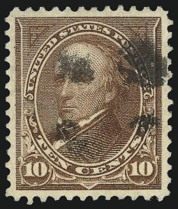 Sale Number 1032, Lot Number 3406, 1894-98 Bureau Issues, Watermarked and Color Change (Scott 264-284)10c Brown, Ty. I (282C), 10c Brown, Ty. I (282C)