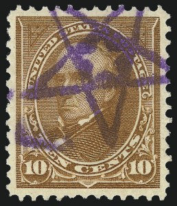 Sale Number 1032, Lot Number 3407, 1894-98 Bureau Issues, Watermarked and Color Change (Scott 264-284)10c Orange Brown, Ty. II (283), 10c Orange Brown, Ty. II (283)