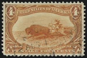 Sale Number 1032, Lot Number 3412, 1898 Trans-Mississippi Issue (Scott 285-293)4c Trans-Mississippi (287), 4c Trans-Mississippi (287)