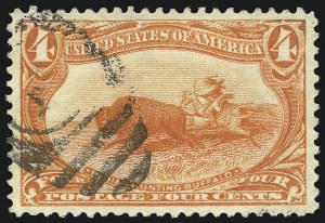Sale Number 1032, Lot Number 3413, 1898 Trans-Mississippi Issue (Scott 285-293)4c Trans-Mississippi (287), 4c Trans-Mississippi (287)