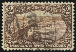Sale Number 1032, Lot Number 3420, 1898 Trans-Mississippi Issue (Scott 285-293)$2.00 Trans-Mississippi (293), $2.00 Trans-Mississippi (293)