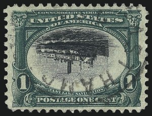 Sale Number 1032, Lot Number 3421, 1901 Pan-American Issue (Scott 294a, 294-299)1c Pan-American, Center Inverted (294a), 1c Pan-American, Center Inverted (294a)