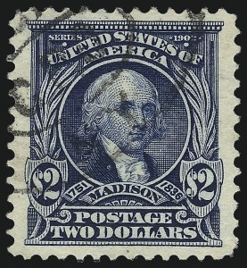 Sale Number 1032, Lot Number 3441, 1902-08 Issues (Scott 300-320c)$2.00 Dark Blue (312), $2.00 Dark Blue (312)