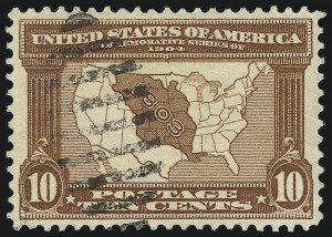 Sale Number 1032, Lot Number 3456, Louisiana Purchase and Jamestown Issues (Scott 323-330)10c Louisiana Purchase (327), 10c Louisiana Purchase (327)