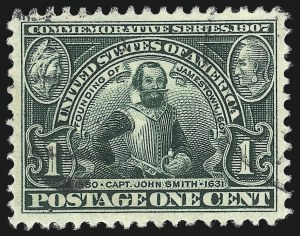 Sale Number 1032, Lot Number 3457, Louisiana Purchase and Jamestown Issues (Scott 323-330)1c Jamestown (328), 1c Jamestown (328)