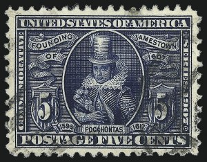 Sale Number 1032, Lot Number 3459, Louisiana Purchase and Jamestown Issues (Scott 323-330)5c Jamestown (330), 5c Jamestown (330)