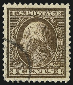 Sale Number 1032, Lot Number 3486, 1909 Commemoratives and 1908-12 Washington-Franklin Issues (Scott 367-396)4c Brown (377), 4c Brown (377)