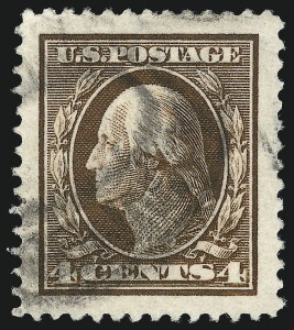 Sale Number 1032, Lot Number 3487, 1909 Commemoratives and 1908-12 Washington-Franklin Issues (Scott 367-396)4c Brown (377), 4c Brown (377)