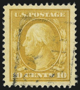 Sale Number 1032, Lot Number 3490, 1909 Commemoratives and 1908-12 Washington-Franklin Issues (Scott 367-396)10c Yellow (381), 10c Yellow (381)