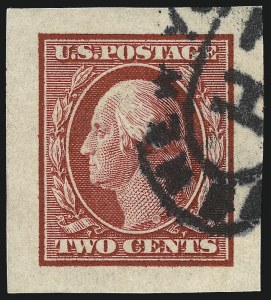 Sale Number 1032, Lot Number 3492, 1909 Commemoratives and 1908-12 Washington-Franklin Issues (Scott 367-396)1c Green, 2c Carmine, Imperforate (383-384), 1c Green, 2c Carmine, Imperforate (383-384)