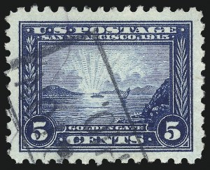 Sale Number 1032, Lot Number 3509, 1913 Panama Pacific Issue (Scott 397-404)5c Panama-Pacific, Perf 10 (403), 5c Panama-Pacific, Perf 10 (403)