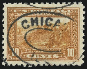 Sale Number 1032, Lot Number 3510, 1913 Panama Pacific Issue (Scott 397-404)10c Panama-Pacific, Perf 10 (404), 10c Panama-Pacific, Perf 10 (404)