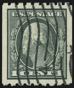 Sale Number 1032, Lot Number 3515, 1912-16 Washington-Franklin Issues (Scott 405-440)1c Green, Coil (410), 1c Green, Coil (410)