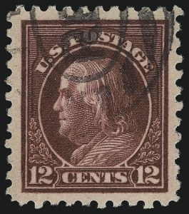 Sale Number 1032, Lot Number 3534, 1912-16 Washington-Franklin Issues (Scott 405-440)12c Copper Red (435a), 12c Copper Red (435a)