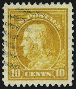 Sale Number 1032, Lot Number 3597, 1917-18 Washington-Franklin Issues (Scott 483-524)10c Orange Yellow (510), 10c Orange Yellow (510)