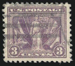 Sale Number 1032, Lot Number 3630, 1918-20 Washington-Franklin Offset Issue, Victory Issue (Scott 525-537b)3c Light Reddish Violet (537b), 3c Light Reddish Violet (537b)