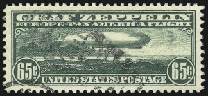 Sale Number 1032, Lot Number 3640, Air Post and Registration65c Graf Zeppelin (C13), 65c Graf Zeppelin (C13)